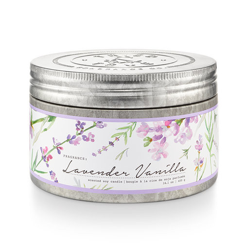 Lavender Vanilla 14.1 oz. Large Tin Candle by Tried & True