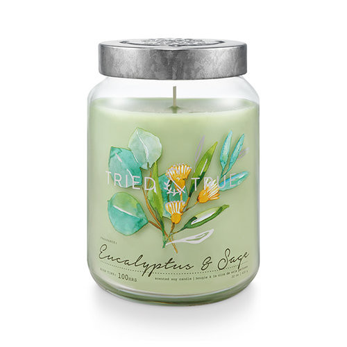 Eucalyptus & Sage 22.2 oz. XL Jar Candle by Tried & True