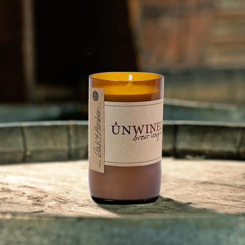 Oak & Amber 8 oz. Brew League Unwined Candle