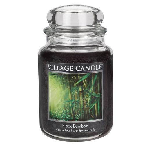 Black Bamboo 26 oz. Premium Round by Village Candles