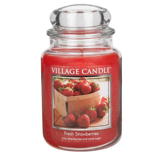 Fresh Strawberries 26 oz. Premium Round by Village Candles
