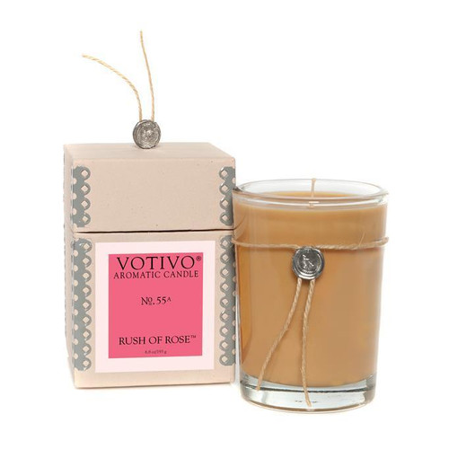 Rush of Rose Aromatic Jar Votivo Candle