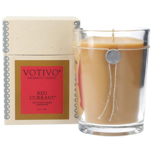 Red Currant Large Glass Candle Votivo Candle
