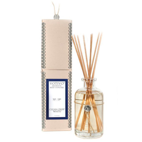 Clean Crisp White Aromatic Reed Diffuser Votivo Candle