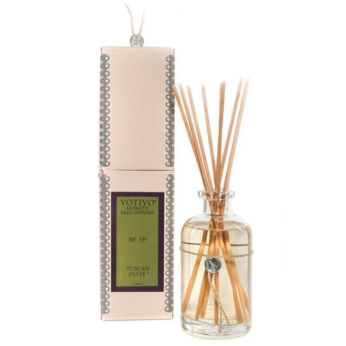 Tuscan Olive Aromatic Reed Diffuser Votivo Candle