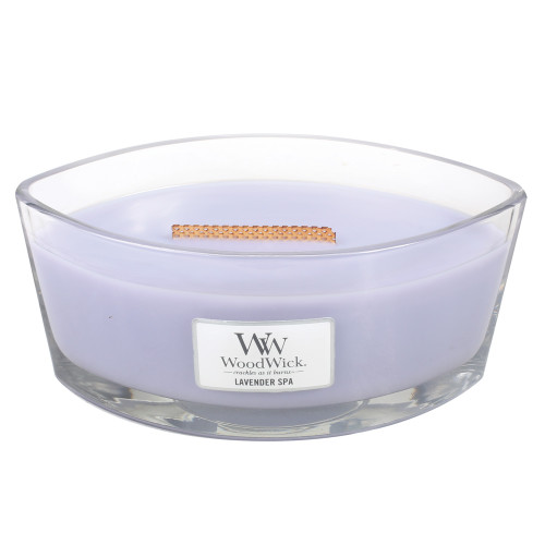 Lavender Spa WoodWick Candle 16 oz. HearthWick Flame