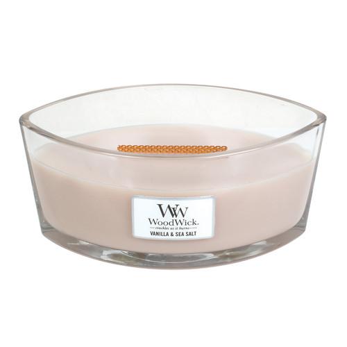 Vanilla & Sea Salt WoodWick Candle 16 oz. HearthWick Flame