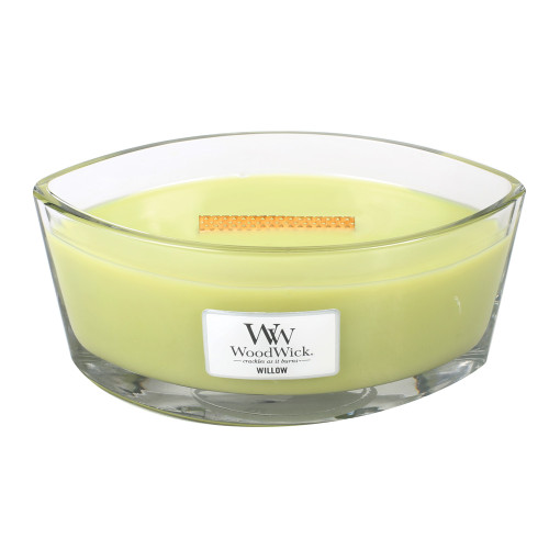 Willow WoodWick Candle 16 oz. HearthWick Flame