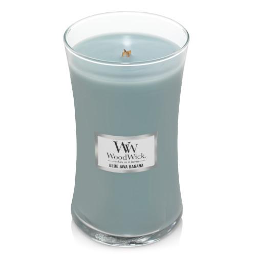 Blue Java Banana WoodWick Large Jar Candle