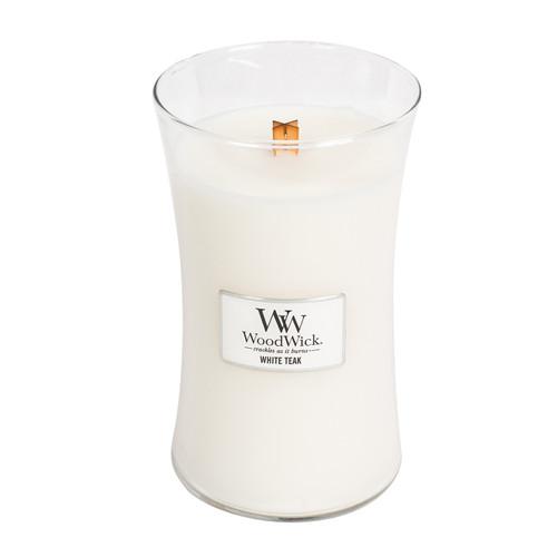 White Teak  WoodWick Candle 22 oz.