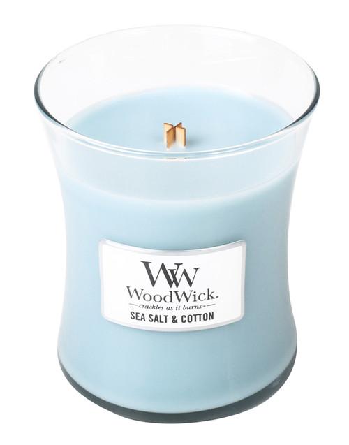 Sea Salt & Cotton WoodWick Candle 10 oz.