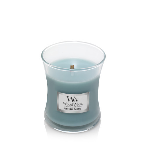 Blue Java Banana WoodWick Mini Jar Candle
