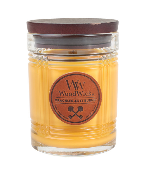Teakwood WoodWick Reserve Collection 8.5 oz.  Candle