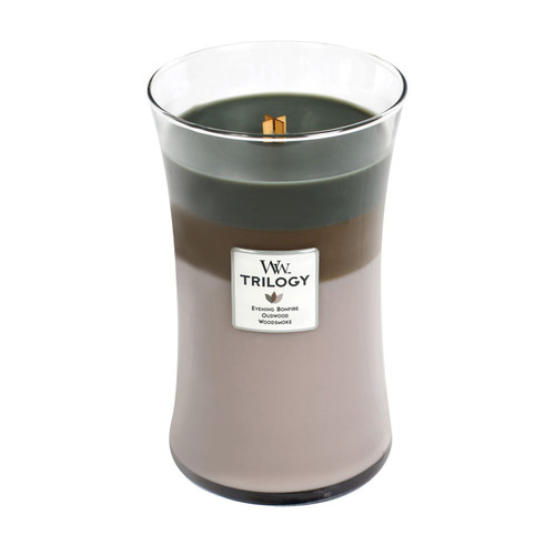 Cozy Cabin WoodWick Trilogy Candle 22 oz.