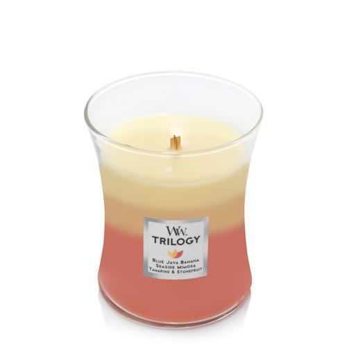 Tropical Sunrise WoodWick Trilogy Medium Jar Candle