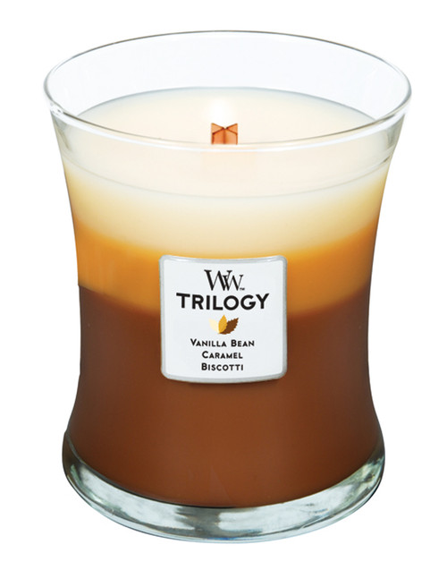 Cafe Sweets WoodWick Trilogy Candle 10oz