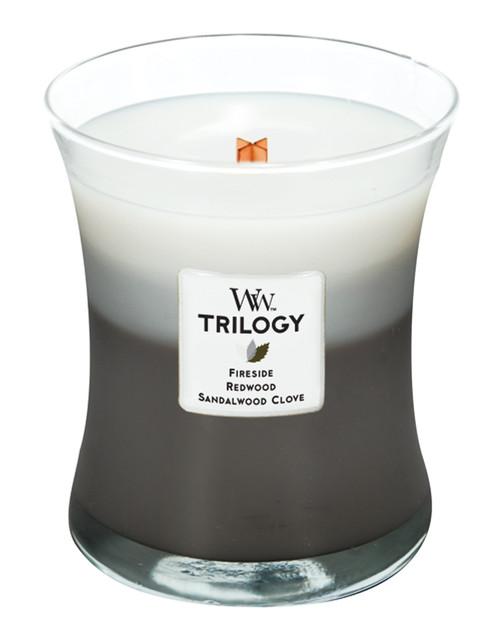 Warm Woods WoodWick Trilogy Candle 10 oz.