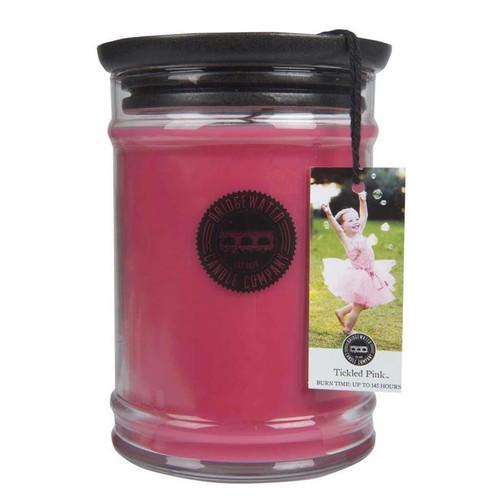 Tickled Pink Large Jar Candle - Bridgewater