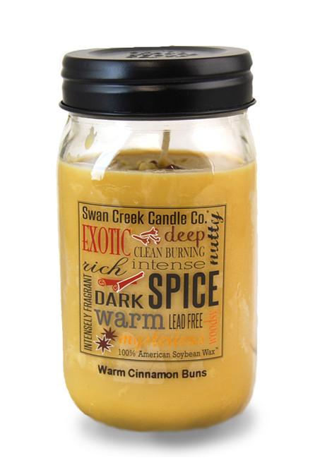 Warm Cinnamon Buns 24 oz. Swan Creek Kitchen Pantry Jar Candle