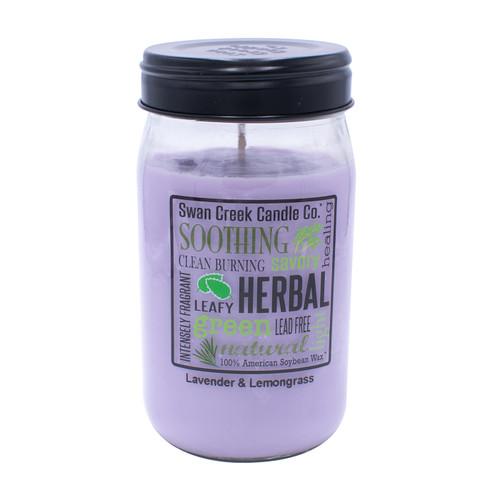 Lavender & Lemongrass 24 oz. Swan Creek Kitchen Pantry Jar Candle