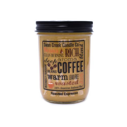 Roasted Espresso 12 oz. Swan Creek Kitchen Pantry Jar Candle