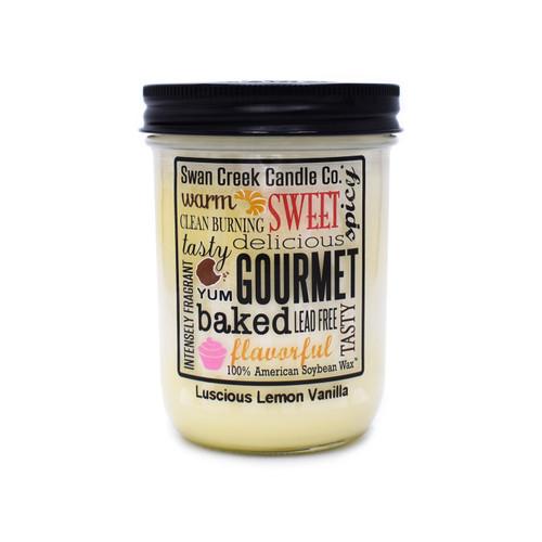 Luscious Lemon Vanilla 12 oz. Swan Creek Kitchen Pantry Jar Candle
