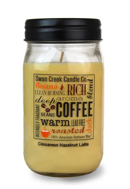 Cinnamon Hazelnut Latte 24 oz. Swan Creek Kitchen Pantry Jar Candle