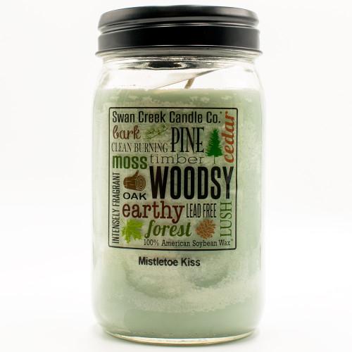 Mistletoe Kiss 24 oz. Swan Creek Kitchen Pantry Jar Candle