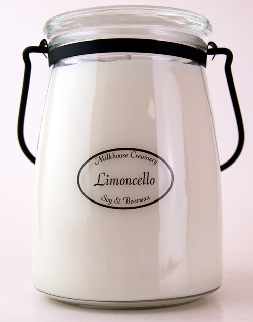 Limoncello 22 oz. Butter Jar Candle by Milkhouse Candle Creamery - Special Order
