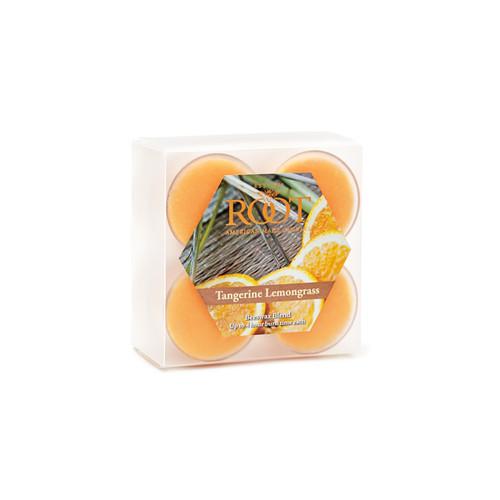 Box of 8 Tangerine Lemongrass Beeswax Blend Tealights Candle
