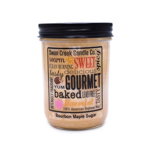 Bourbon Maple Sugar 12 oz. Swan Creek Kitchen Pantry Jar Candle