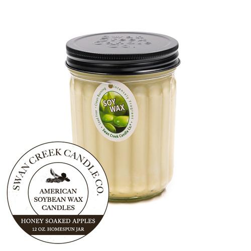Honey Soaked Apples 12 oz. Homespun Jar Swan Creek Candle