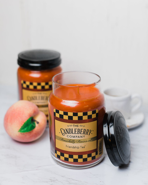 Friendship Tea 26 oz. Large Jar Candle 2-Pack by Candleberry Candle
