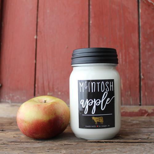 McIntosh Apple 13 oz. Mason Jar Candle by Milkhouse Candle Creamery