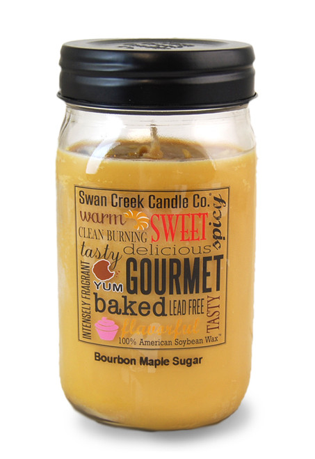 Bourbon Maple Sugar 24 oz. Swan Creek Kitchen Pantry Jar Candle