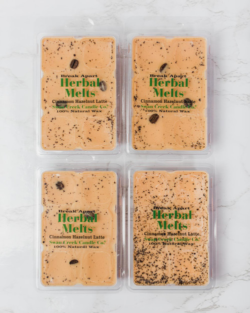 Cinnamon Hazelnut Latte 5.25oz Swan Creek Candle Drizzle Melts 4-Pack