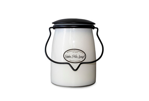 Rake, Pile, Leap! 22 oz. Butter Jar by Milkhouse Candle Creamery