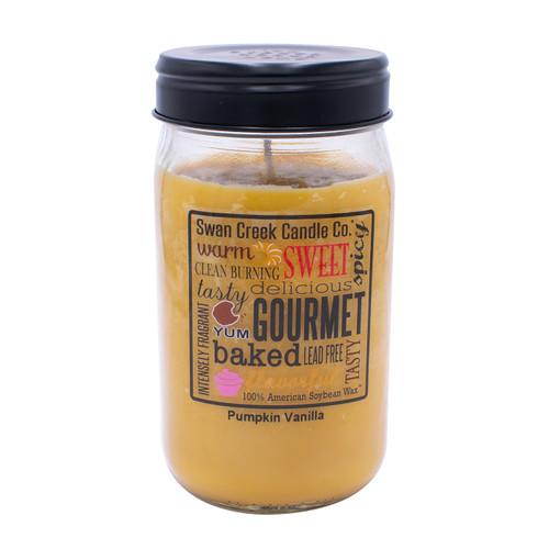 Pumpkin Vanilla 24 oz. Swan Creek Kitchen Pantry Jar Candle