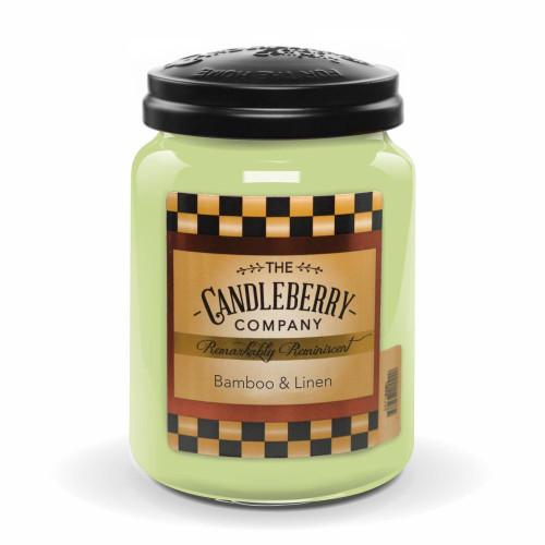 Bamboo & Linen 26 oz Large Jar Candleberry Candle