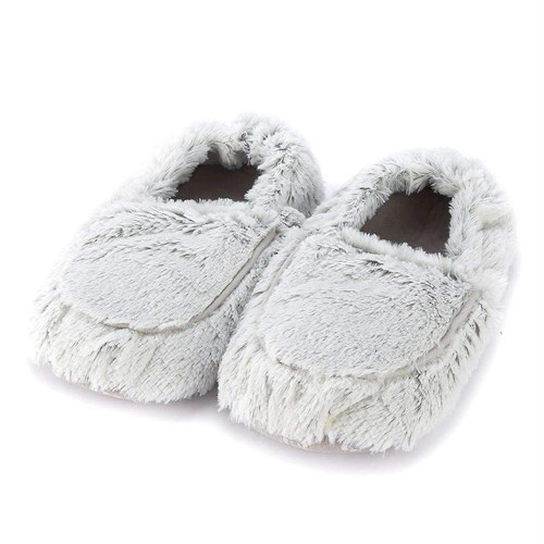 Warmies Heatable & Lavender Scented Gray Marshmallow Spa Slippers