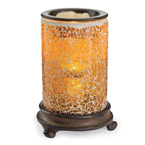 Crackled Amber Glass Illumination Fragrance Warmer