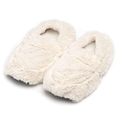 Warmies Heatable & Lavender Scented Cream Spa Slippers