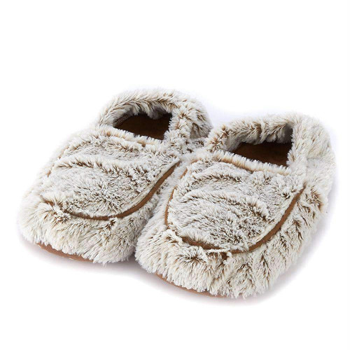 Warmies Heatable & Lavender Scented Brown Marshmallow Spa Slippers