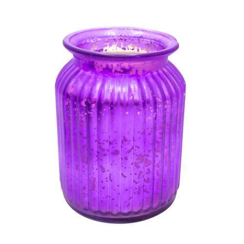 Sugar Plum Merlot Purple 24 oz. Gilded Glass Large Jar Swan Creek Candle