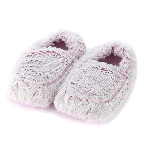 Warmies Heatable & Lavender Scented Pink Marshmallow Spa Slippers