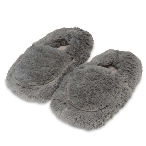 Warmies Heatable & Lavender Scented Gray Spa Slippers