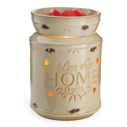 Cream Bless This Home Illumination Fragrance Warmer