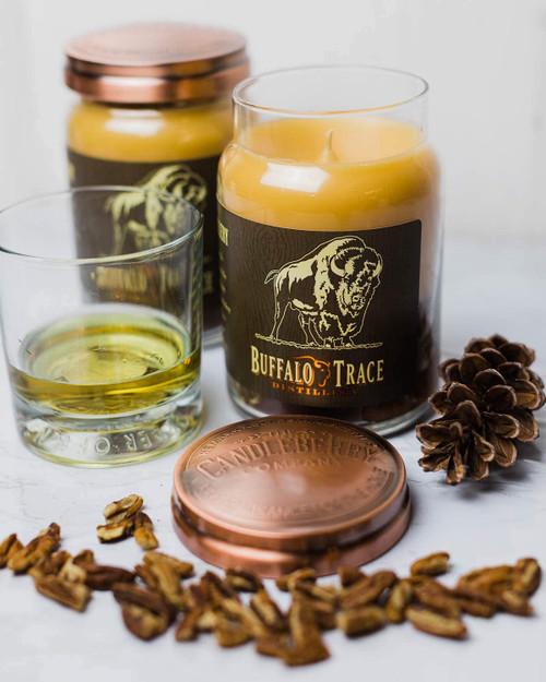 Buffalo Trace Bourbon Roasted Pecan 26 oz. Large Jar Candle 2-Pack by Candleberry Candle