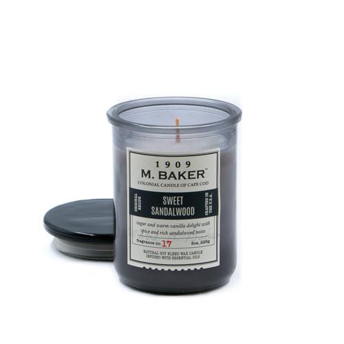Sweet Sandalwood 8 oz. M. Baker Small Jar Colonial Candle