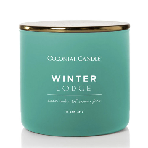 Winter Lodge 14.5 oz. Pop of Color Trend Collection Colonial Candle